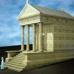 Reconstitution 3D du temple antique
